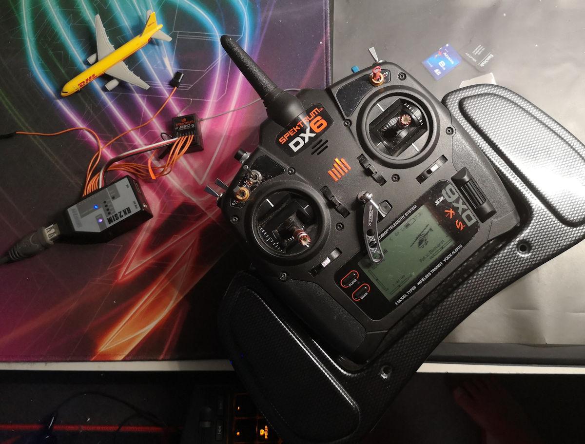 Spektrum RX2SIM - detail
